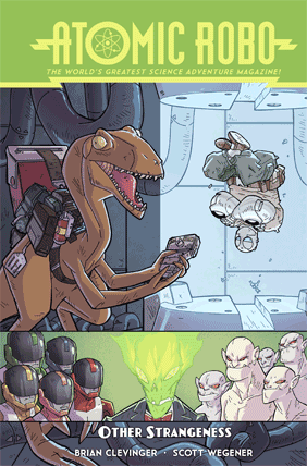 Atomic Robo and Other Strangeness graphic album cover