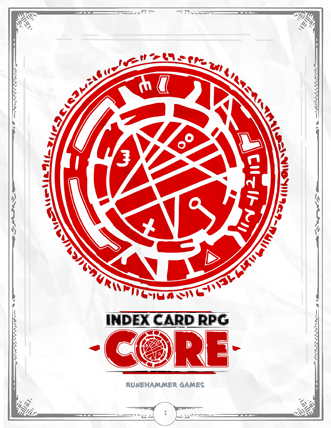 Index Card RPG core rulebook
